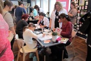 Stand mit Stampin up bei der Messe für die Frau Ladies' DAY im Kieler Schloss