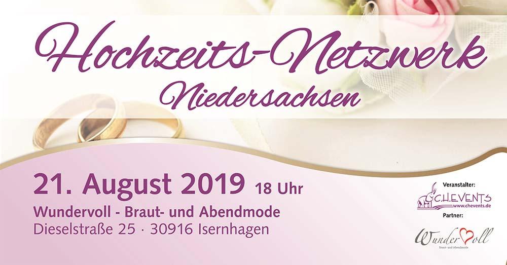 Bild Ankündigung Netzwerktreffen für Hochzeitsdienstleister Niedersachsen
