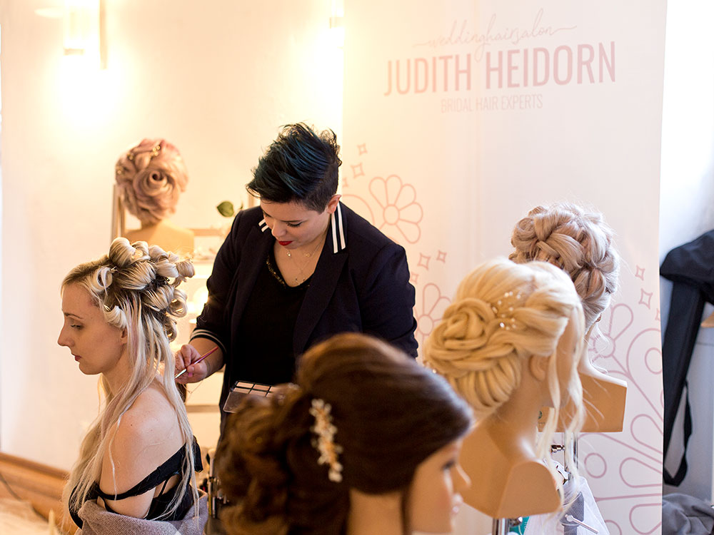 Foto Judith Heidorn Ausstellerin bei Hochzeitsmesse auf Schloss Landestrost in Neustadt
