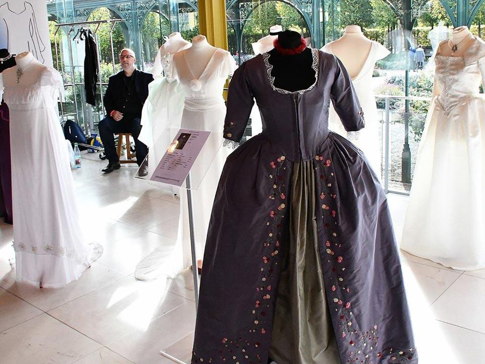 Foto Brautmode auf Hochzeitsmesse Hannover in Herrenhäuser Gärten