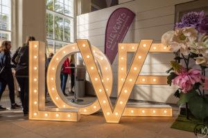 """Foto Aufsteller """"LOVE"""" unsere Hochzeitsmesse in Hannover 2019"""