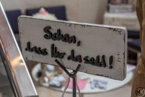 Foto Schild unsere Hochzeitsmesse in Hannover 2019